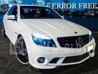 MERCEDES C-CLASS W204 Xenon COOL White 6000k LED SIDE LIGHT BULBS ERROR FREE x4