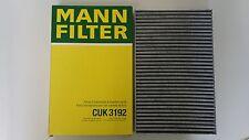 AUDI A6/100 Active Carbon Polline/Cabin/Filtro Aria/MANN HUMMEL CUK3192/4B0819439A