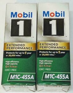 2 PACK Mobil 1 Genuine M1C-455A Extended Performance High Efficiency Oil Filter