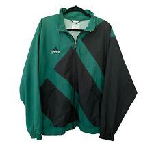 Adidas Men's Vintage Windbreaker Jacket Sz Medium - Green Black Retro Big Logo