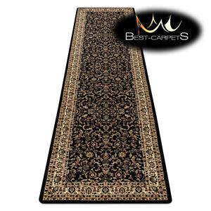 Thick & Soft TRADITIONAL black long Carpet, Runner 'ROYAL' Corridor & Hallway