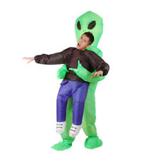 Scary Halloween Costume Adult Green Alien Inflatable Suits Party Dress For Adult
