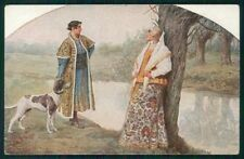 Artist Signed Solomko Russia Russian Couple Lady TSN serie 176 cartolina TC1759