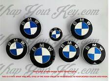 WHITE & BLUE CARBON FIBER BMW ALL Badge Emblem Overlay @!FITS ALL BMW!@ M SPORT