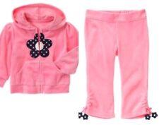 Gymboree Miss Mouse 12-18 mo Pink Velour Flower Zip Up Pant set Sweatsuit 2011