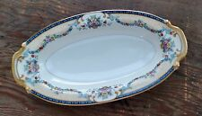 Noritake China Mercedes Relish Japan Floral Swag  Good Condition Blue Pink Red