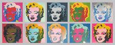 Andy Warhol Marilyn Monroe Tableau Poster Kunstdruck Bild 56x134cm