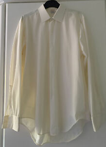 """Vintage, Candy-nyl Ivory white 100% Nylon Men's Shirt 16"""". Styled for C&A. Pre-O"""