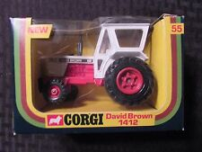 Vintage CORGI David Brown 1412 White Tractor #55 MIB C-3