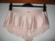 Marks & Spencer ladies lace French knickers -  pale rose - size 14