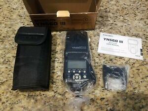 Yongnuo Digital SpeedLite Flash YN560 III, V2018, 2.4G, Black w/case *NEW*