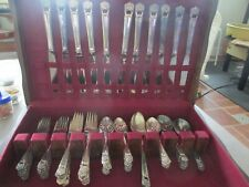 "LOT OF 70 PIECES (MOSTLY UNUSED) 1847 ROGERS BROS ""ETERNALLY YOURS"" FLATWARE"