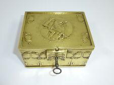 Art Nouveau Casket Um 1900 Erhardt & Sons? Bronze Knight