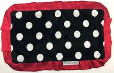 Minky Couture Lovey Lovie Nunu Security Blanket Black Red White Polka Dots