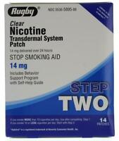 Rugby Nicotine-Patch Transdermal PATCHES 14mg 14 Step 2 Exp.1-2022+ (CSO)