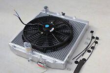 92-00 Honda Civic EG EJ EH EK EM M/T Manual Aluminum 2 Row Radiator + Black Fan