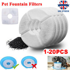 More details for 1-20x pet water dish fountain filters cat dog drinking bowl flower replacement