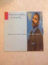 """Alexander O'Neal What Is This Thing Called Love? 7"""" vinyl 1991"""