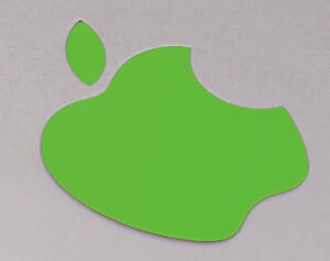 "Lime Green Color Changer Logo Overlay for the new Apple Retina 12"" Macbook"