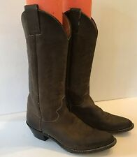 Justin Brown Leather Western Cowboy Boots Women's Size 6 B