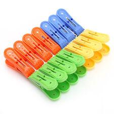 New 14pcs Convenient Plastic Laundry Clothes Pins Hangers Spring Clamp Clips