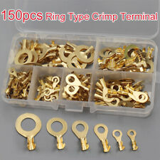 150 Insulated Crimp Ring Terminals Wire Connectors Spade Electrical Kit Box  CR
