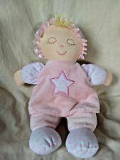 Kids Preferred Pink Soft Baby Doll Plush Polka Dots Star Sleeping Closed Eyes