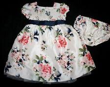 JANIE AND JACK Prima Ballerina Smocked Floral Silk Dress Girl Size 3-6 Months
