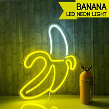 Banana LED Neon Sign Light Decor Bar Pub Bedroom Wall Art Christmas Party Gift