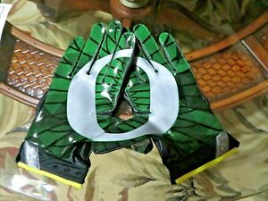 NEW NIKE OREGON DUCKS SUPERBAD 3.0 ON-FIELD RECEIVER FOOTBALL GLOVES SIZE L