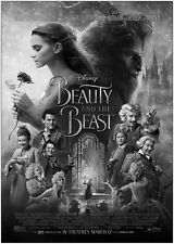 Beauty And The Beast Movie Large BOX CANVAS Art Print Black & White