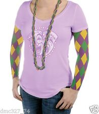 MARDI GRAS Fat Tuesday Novelty Party Parade Accessory HARLEQUIN Design SLEEVES