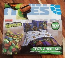 NEW Teenage Mutant Ninja Turtles 3 piece TWIN size Sheet Set TMNT Bedding Kids