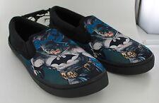 New Batman Canvas Slip On Sneakers Shoes - Black - Size 13