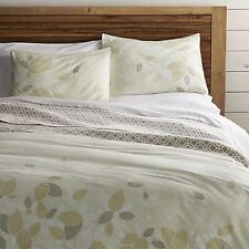 Crate & and Barrel HENNA LEAF TWIN DUVET COVER NWOT-Awesome Design!