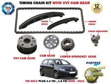 Para VW Golf Plus 1.4 TSI 1.6 FSI 2005>Cadena Transmisión Kit Tensionador + Vvt