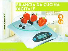 BILANCIA DIGITALE ELETTRONICA CUCINA VETRO COLORE ARGENTO 5 kg