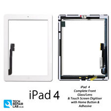 NEW iPad 4 Complete Front Glass/Digitiser Touch Screen Panel Assembly - WHITE