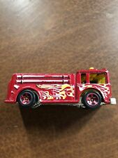 Vintage Hot Wheels Fire Eater Diecast Fire Truck 1976 Mattel With Flames Paint