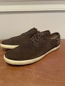 Clarks Mens Forge Vibe Dark Brown Suede Shoes Size 11