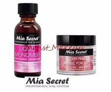 Mia Secret Acrylic Nail Powder Cover Pink + Liquid Monomer 1 oz Set - USA