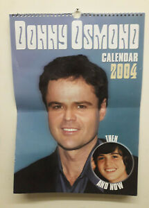 Donny Osmond 2004 Calendar Then and Now