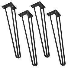 [en.casa]® 4x Hairpin Leg Pied table Pieds d'épingle à cheveux DIY 72cm noir