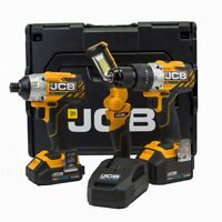Professional JCB Tools 18V Combi Drill and Impact Driver Kit with Robust L-Boxx