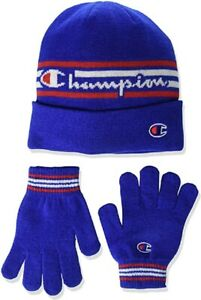 Champion Youth Beanie & Glove Set Blue/Red/White One Size - CHY2007