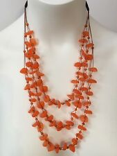 Faux Seaglass Necklace Orange - Handmade