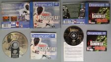 LOTE SEGA DREAMCAST RAINBOW SIX ROGUE SPEAR + EAGLE WATCH COMPLETO BOXED CIB PAL
