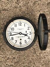 Rare Original Vtg U.S. Navy Chelsea Ships Maritime Clock Black w/ Key Estate Usa