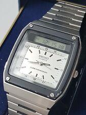 """Seiko H357-5040 James Bond """"For Your Eyes Only 1981 Movie Watch Alarm Chrono Box"""
