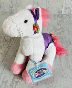 New Webkinz Merry Go Round Pony Sealed Code Horse White Pink Purple Plush